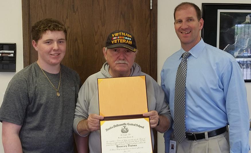 Vietnam War veteran receives diploma from FFCS