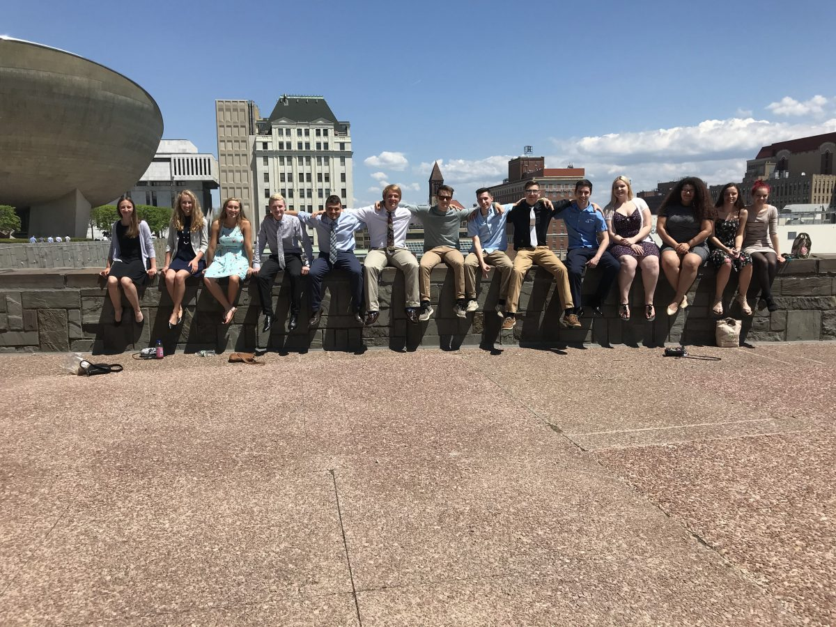 College-level Participation in Government class visits the Capitol