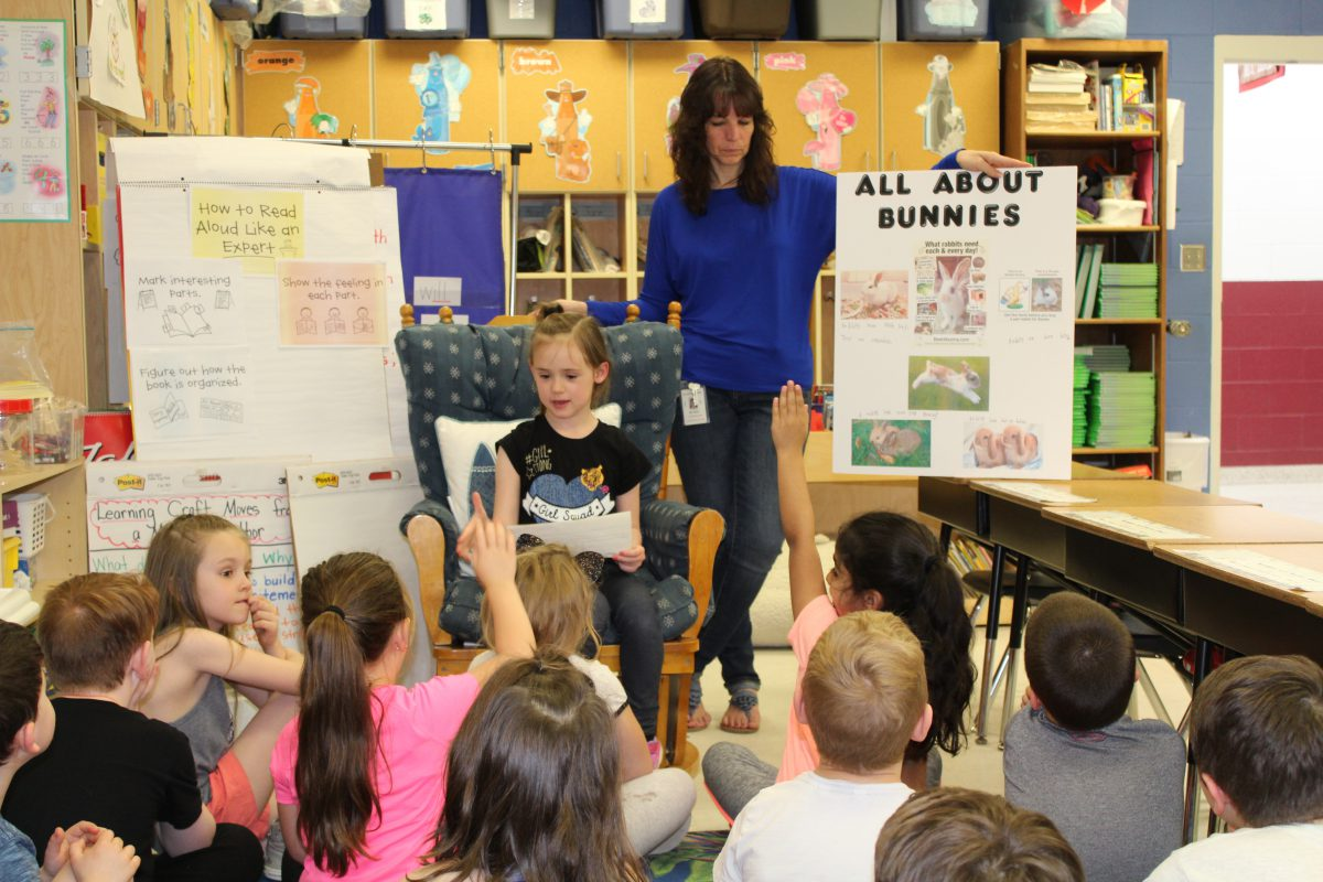 1st graders perfect their storytelling skills