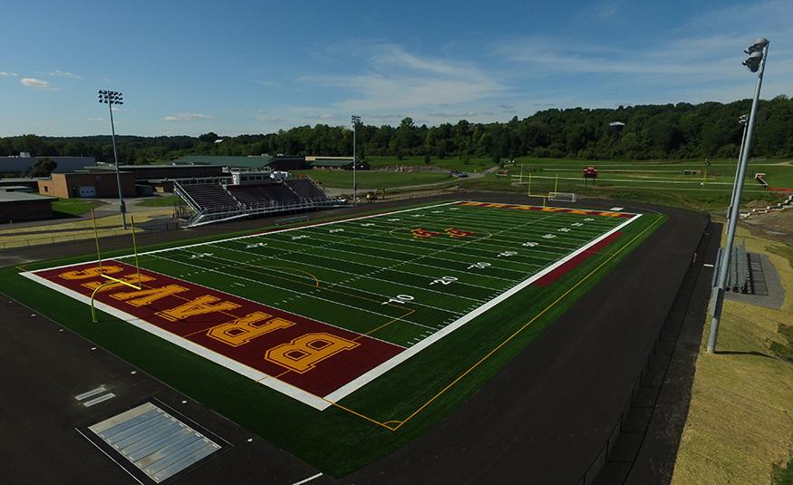 New multi-use turf field.