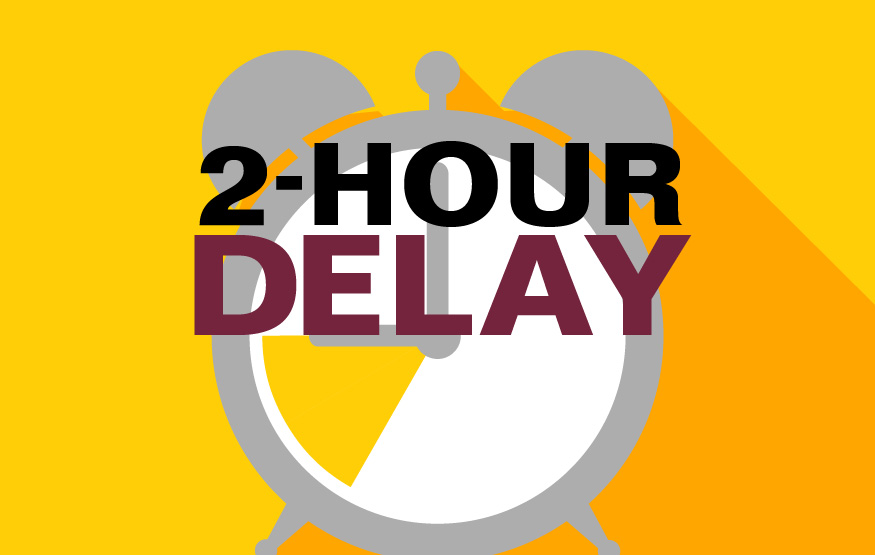 Two-hour delay on Wednesday, Nov. 14