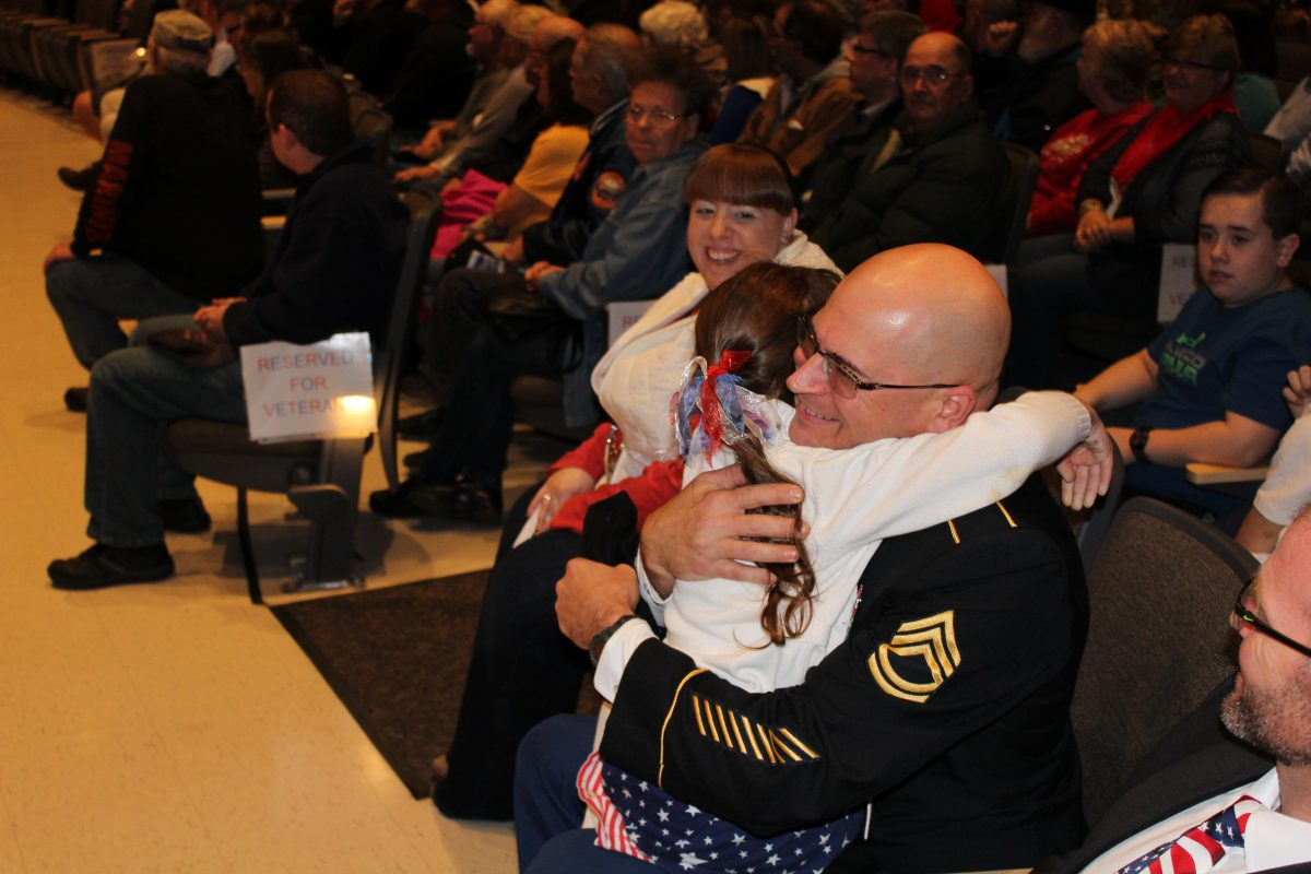 Students honor veterans at annual ceremony