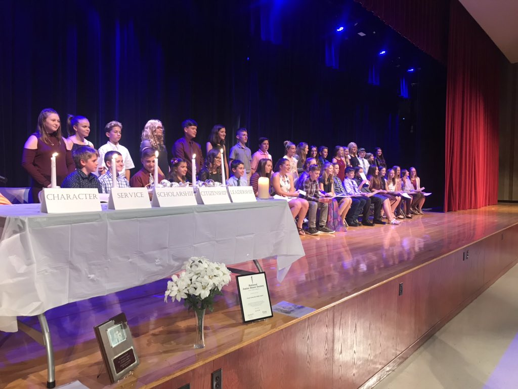 38 students inducted into National Junior Honor Society