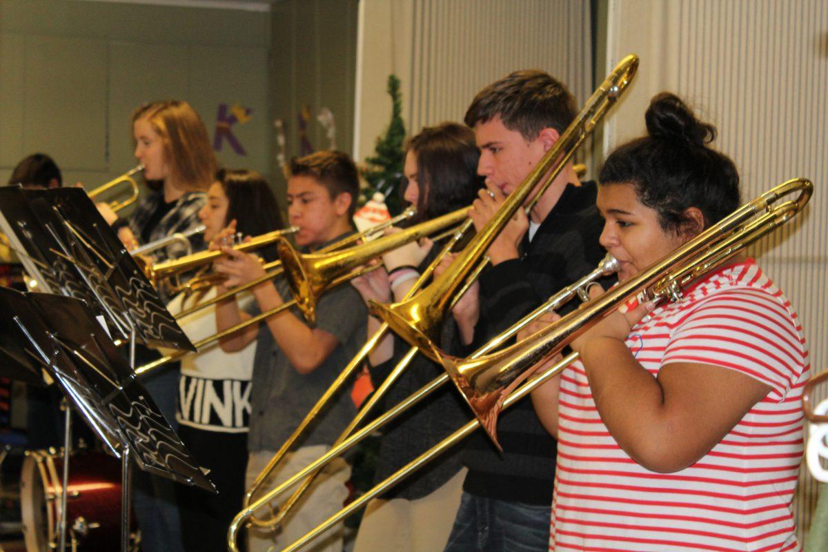 Jazz Ensemble II performs for local senior citizens group