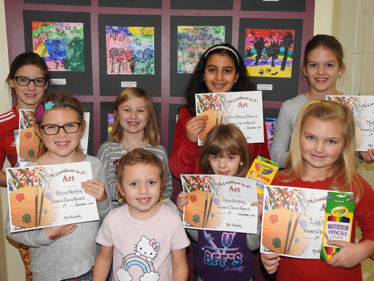 Students recognized at art show