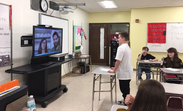 Middle schoolers video chat with scientists about restoration of American chestnut tree