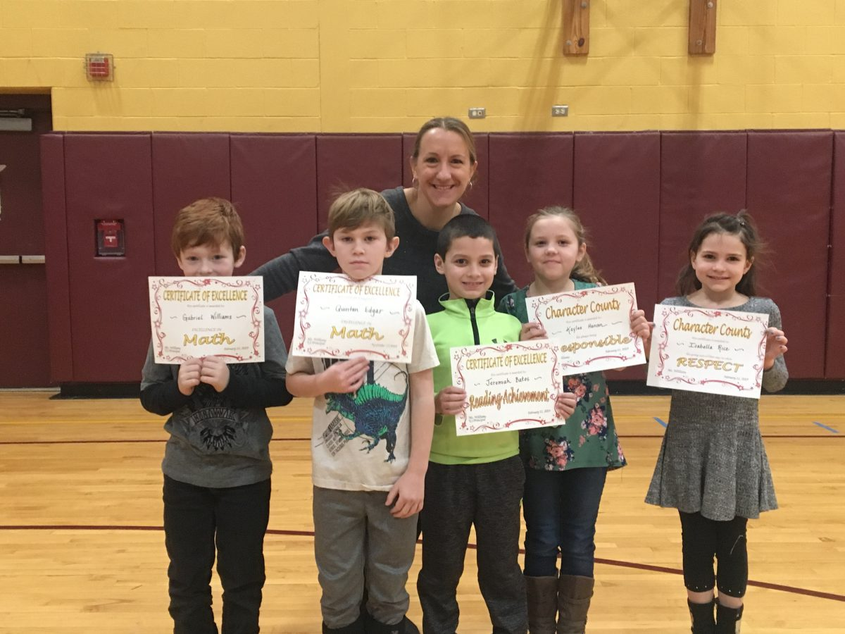 Elementary school's 2nd quarter awards assembly