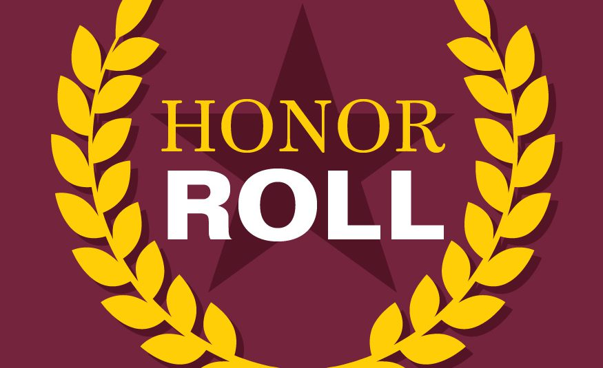 honor roll with graphic of star and laurels