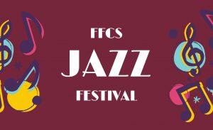 FFCS Jazz Festival with illustrated music notes
