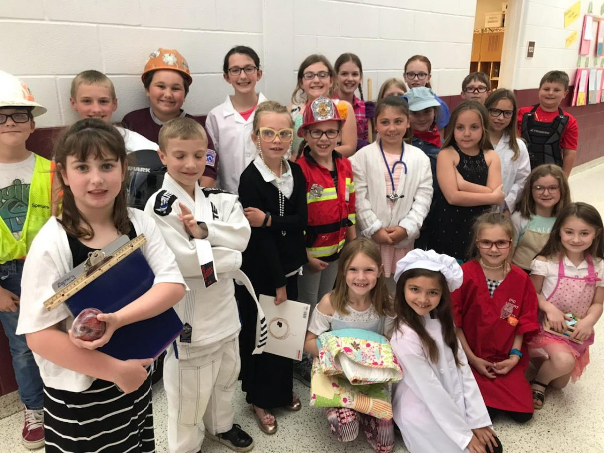 Elementary students perform musical to learn about careers