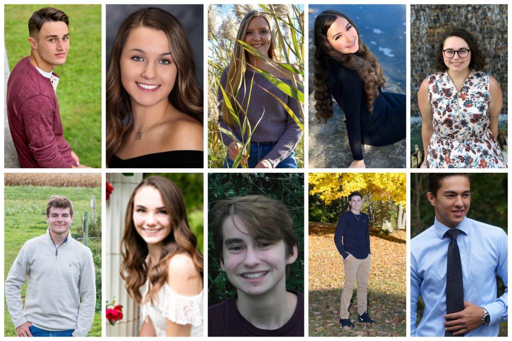10 senior portraits are seen