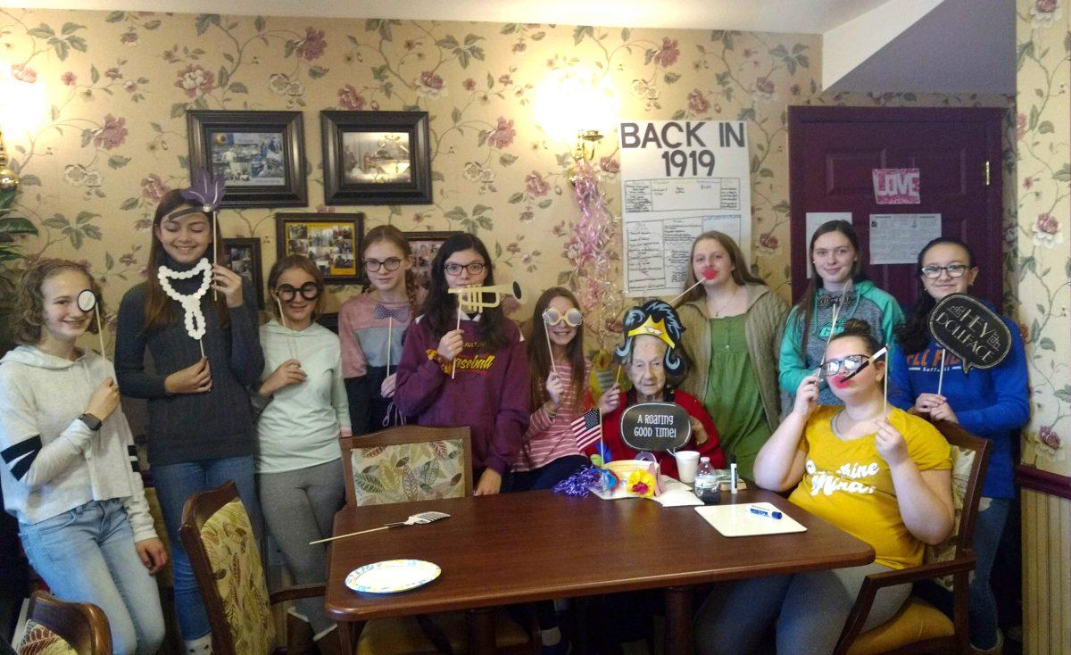 Builders Club celebrates nursing home resident's 100th birthday