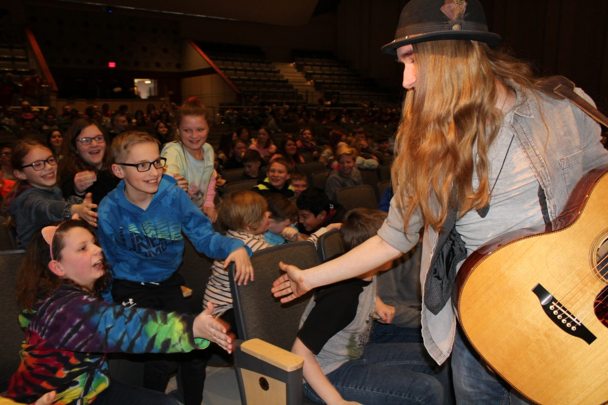 Middle school celebrates World Read Aloud Day