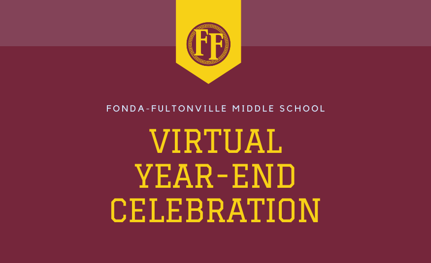Middle school virtual year-end celebration & digital yearbook