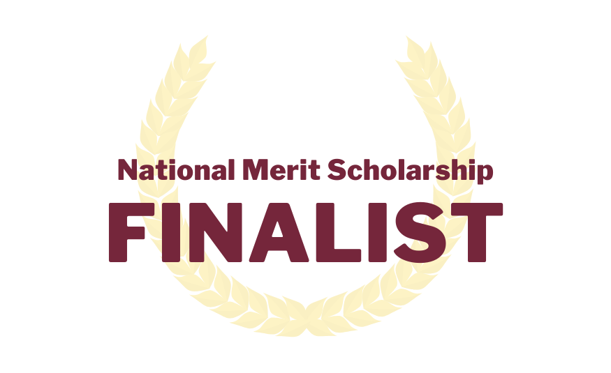 National Merit Scholarship finalist with a laureate